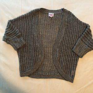 Cute and Comfy Gray Justice Shrug/Sweater. Size 14